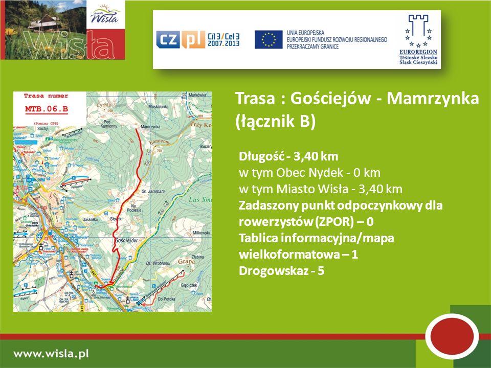 Trasa : Gościejów - Mamrzynka (łącznik B)