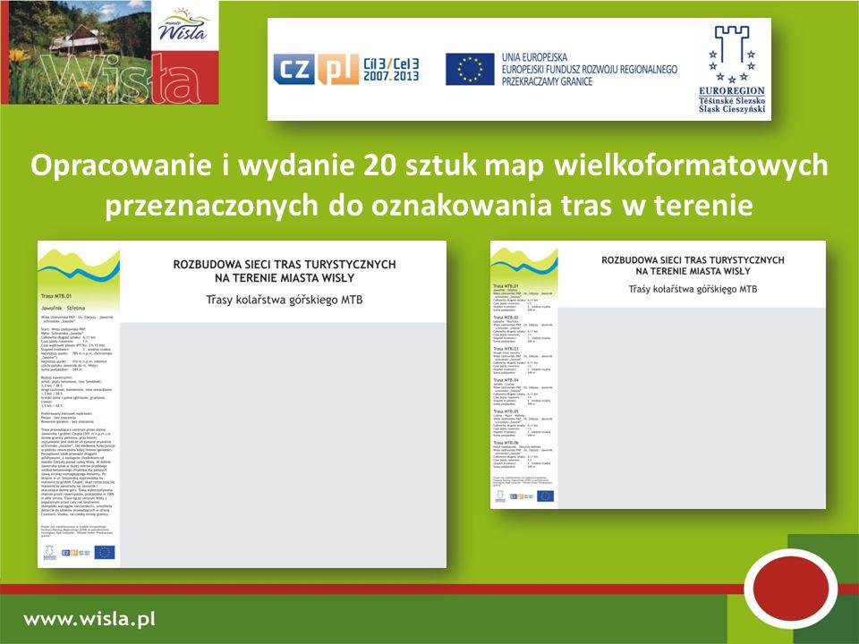 Opracowanie i wydanie 20 sztuk map wielkoformatowych przeznaczonych do oznakowania tras w terenie