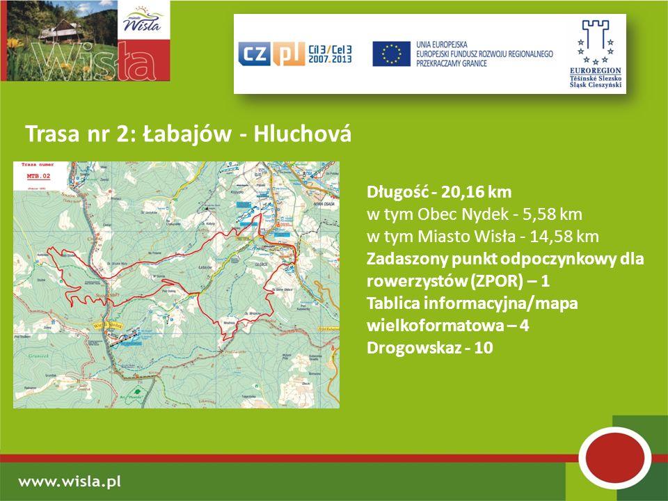 Trasa nr 2: Łabajów - Hluchová