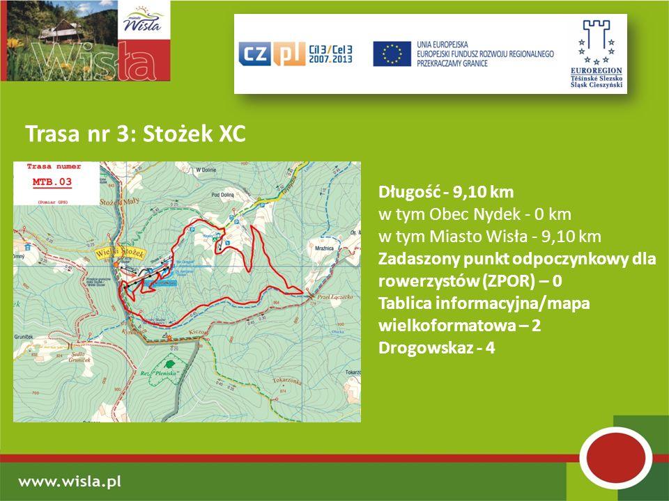 Trasa nr 3: Stożek XC Długość - 9,10 km w tym Obec Nydek - 0 km