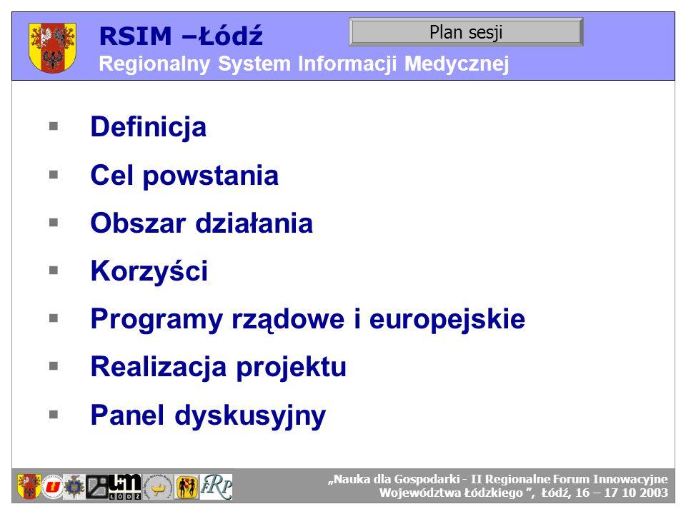 Programy rządowe i europejskie Realizacja projektu Panel dyskusyjny