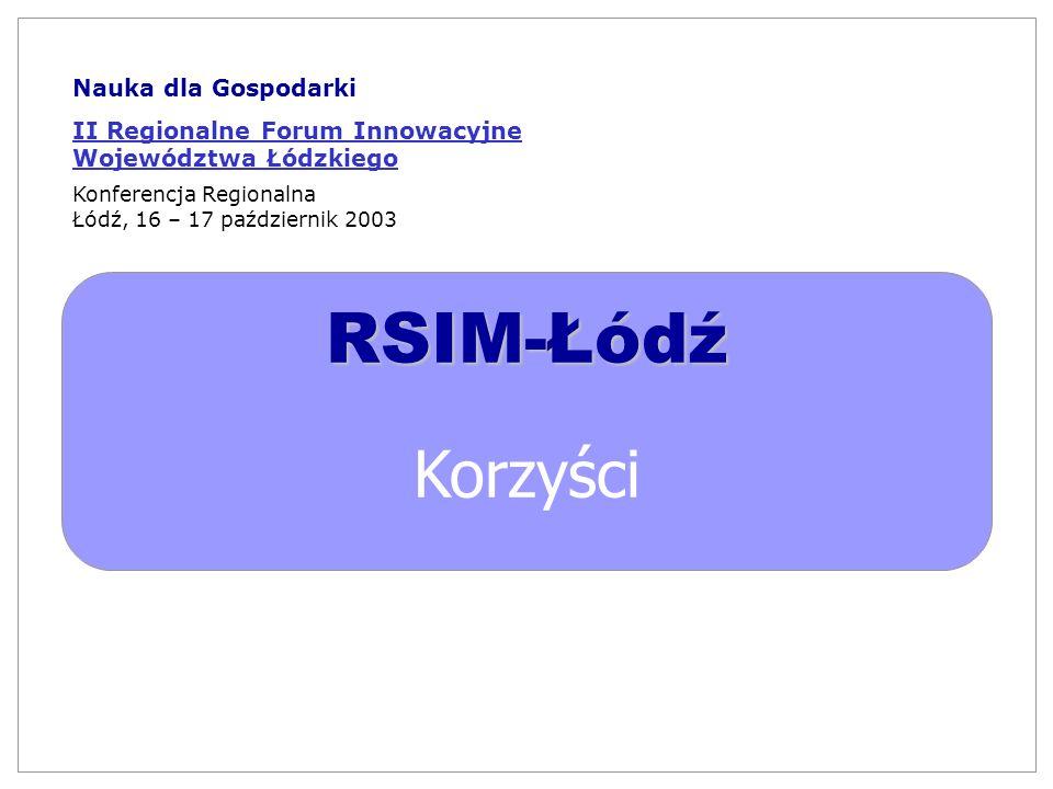 RSIM-Łódź Korzyści Nauka dla Gospodarki