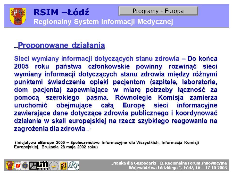 RSIM –Łódź Regionalny System Informacji Medycznej