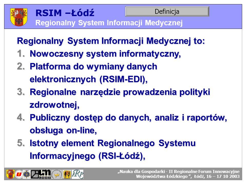Regionalny System Informacji Medycznej to: