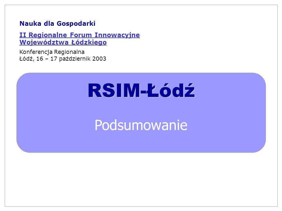 RSIM-Łódź Podsumowanie Nauka dla Gospodarki