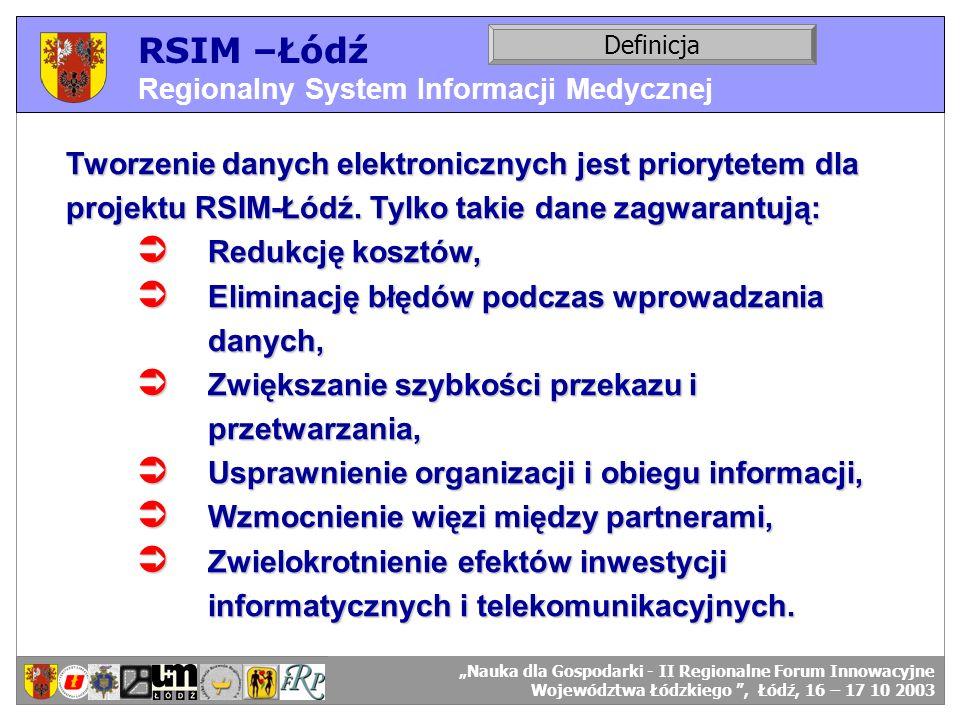 RSIM –Łódź Regionalny System Informacji Medycznej. Definicja.
