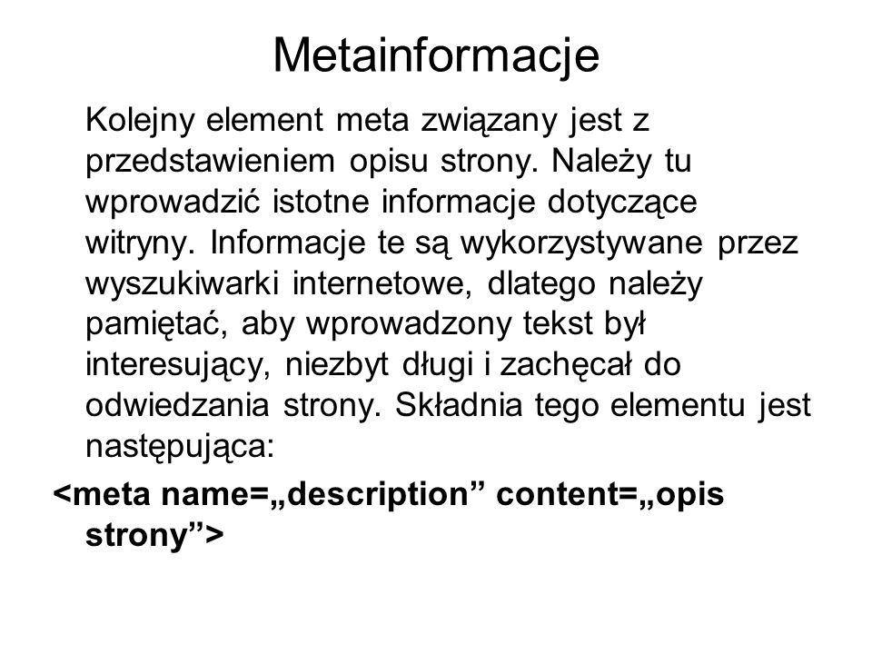 Metainformacje
