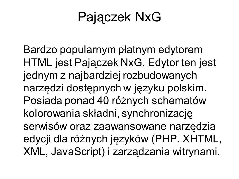 Pajączek NxG