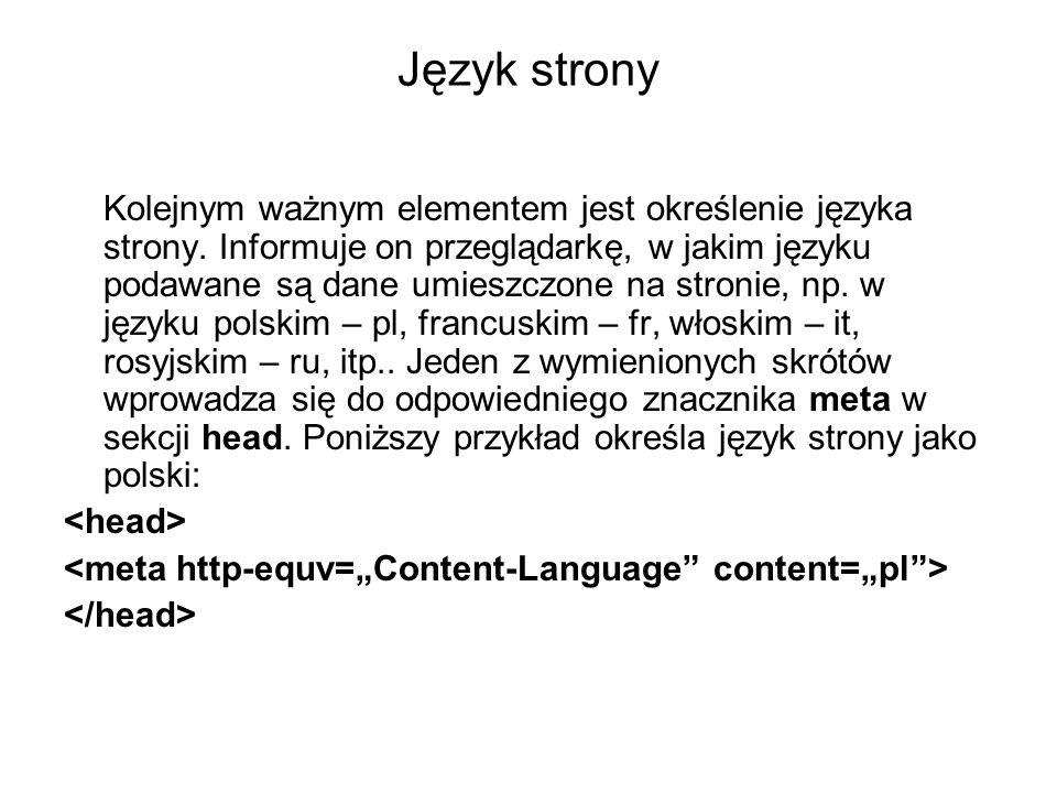 Język strony