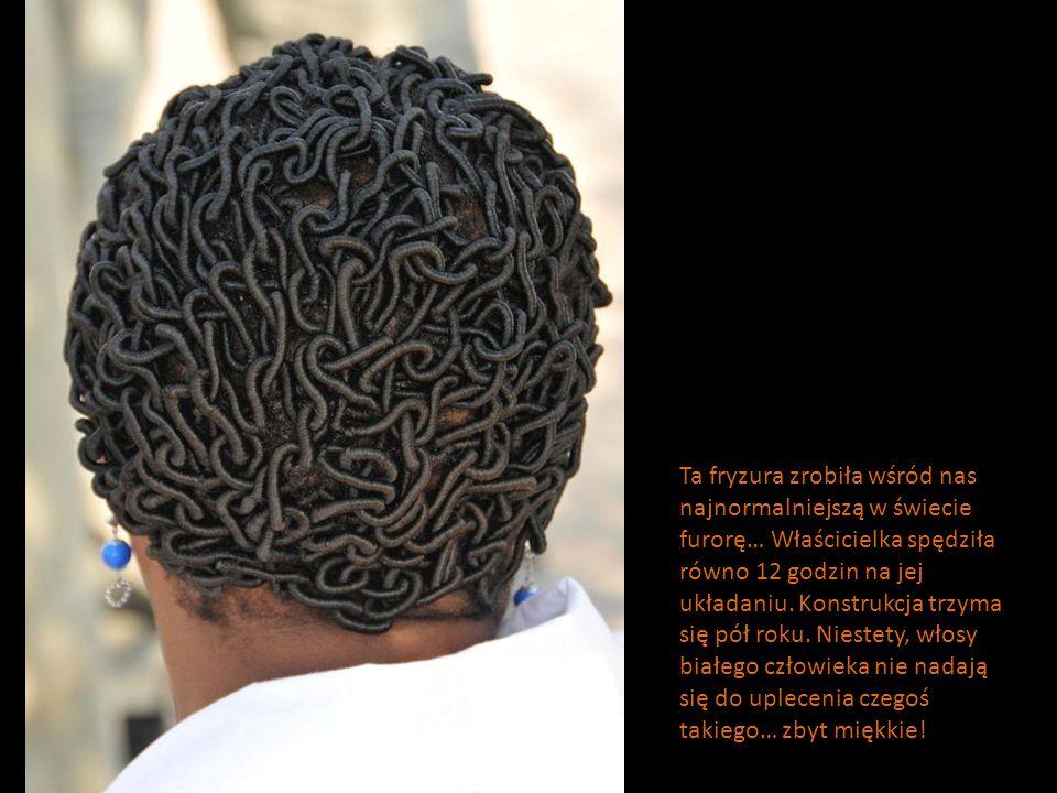 Ta fryzura zrobiła wśród nas najnormalniejszą w świecie furorę… Właścicielka spędziła równo 12 godzin na jej układaniu.