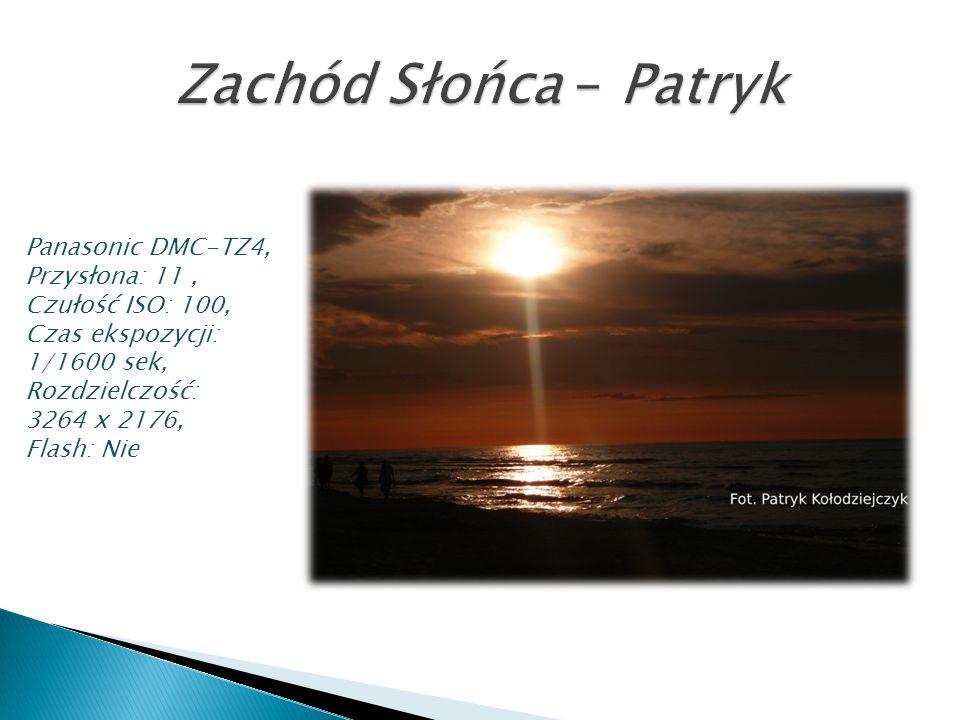 Zachód Słońca – Patryk Panasonic DMC-TZ4, Przysłona: 11 ,