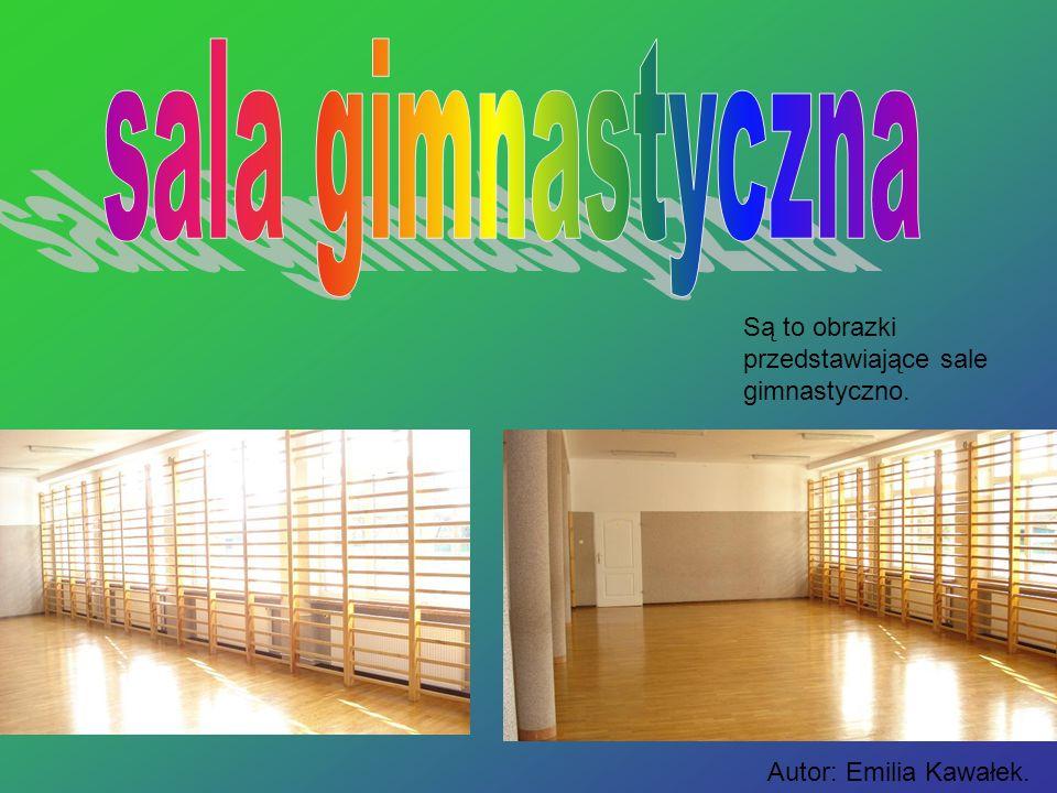 sala gimnastyczna Są to obrazki przedstawiające sale gimnastyczno.