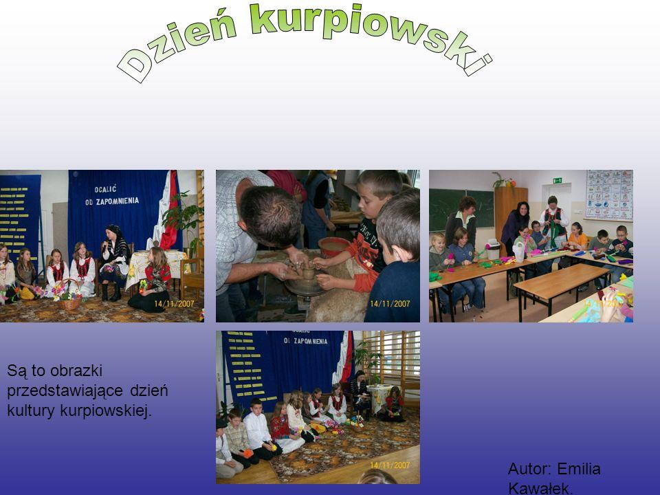Dzień kurpiowski Są to obrazki przedstawiające dzień kultury kurpiowskiej. Autor: Emilia Kawałek.