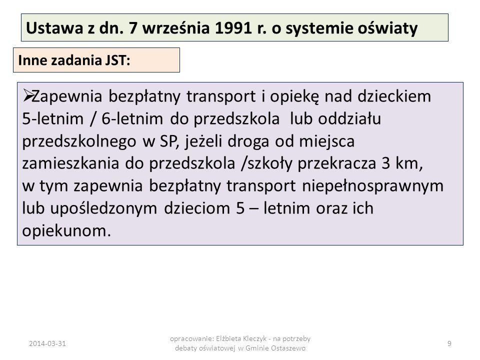 Ustawa z dn. 7 września 1991 r. o systemie oświaty