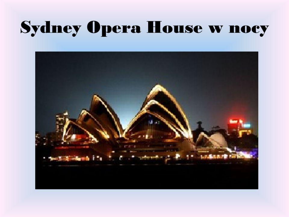 Sydney Opera House w nocy