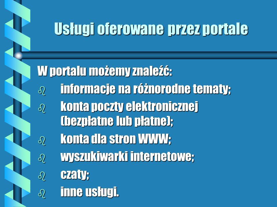 Usługi oferowane przez portale