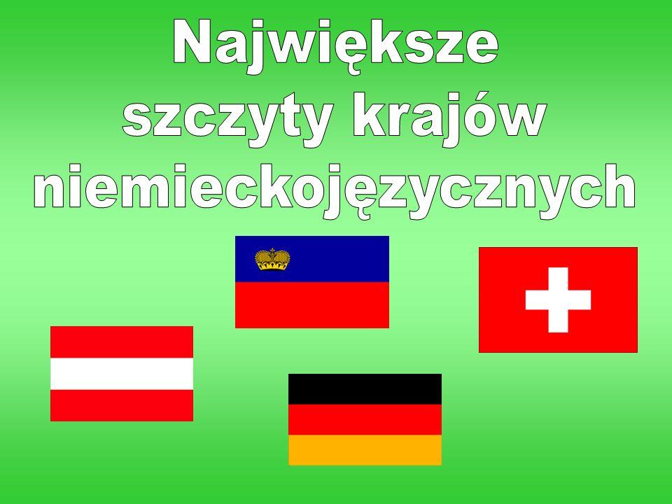 Największe szczyty krajów niemieckojęzycznych