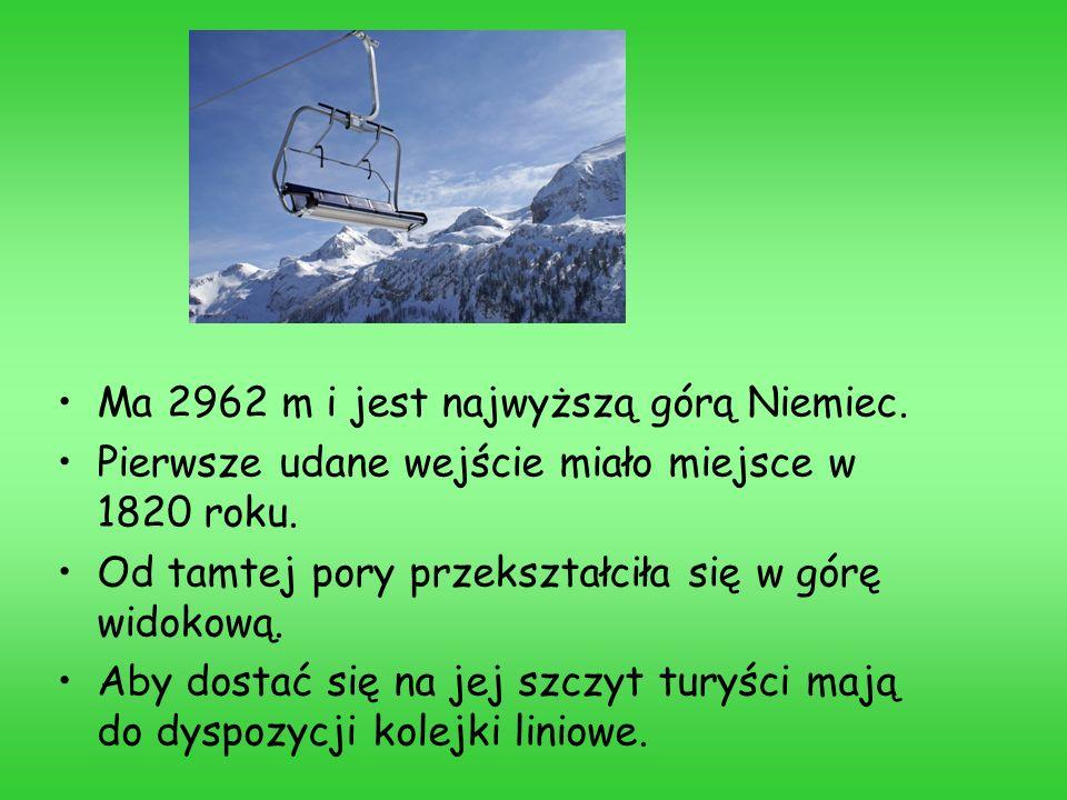 Ma 2962 m i jest najwyższą górą Niemiec.