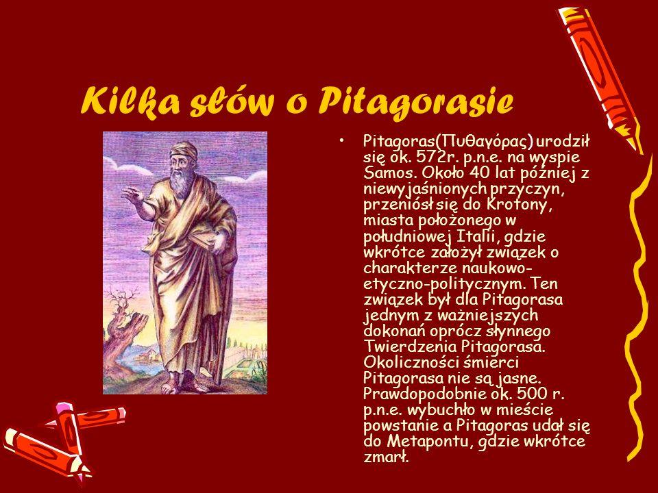 Kilka słów o Pitagorasie
