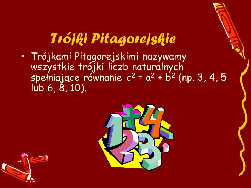 Trójki Pitagorejskie