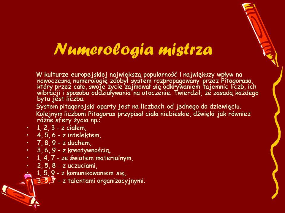 Numerologia mistrza