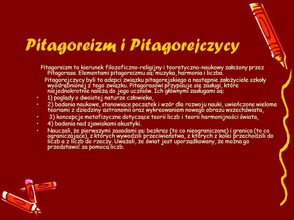 Pitagoreizm i Pitagorejczycy