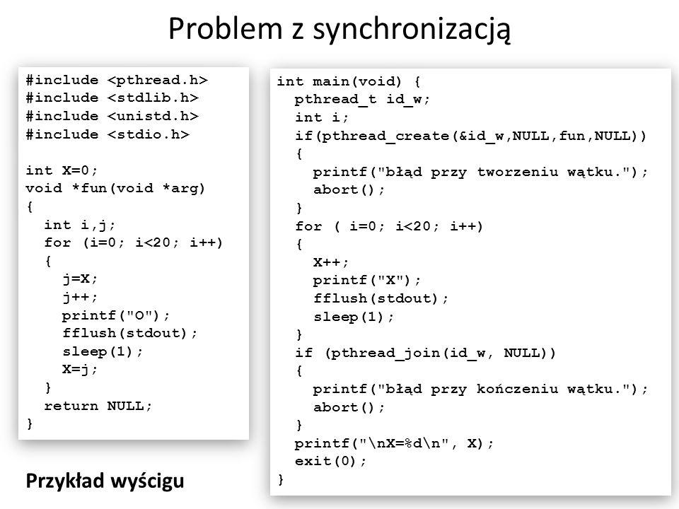 Problem z synchronizacją