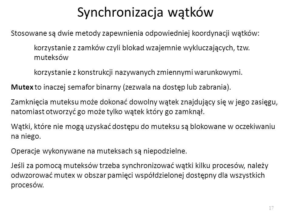 Synchronizacja wątków