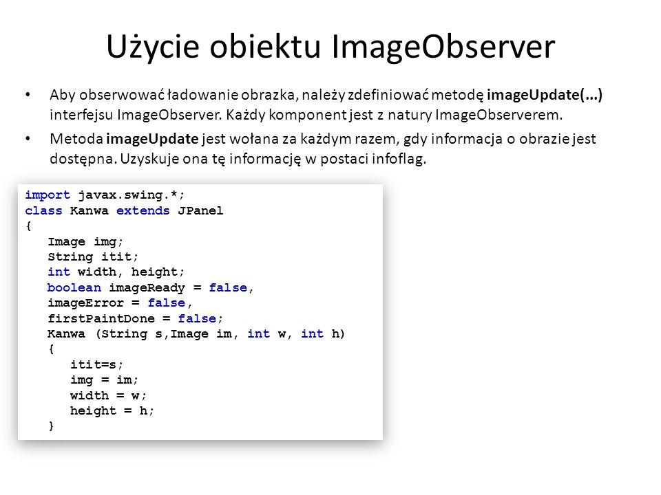 Użycie obiektu ImageObserver