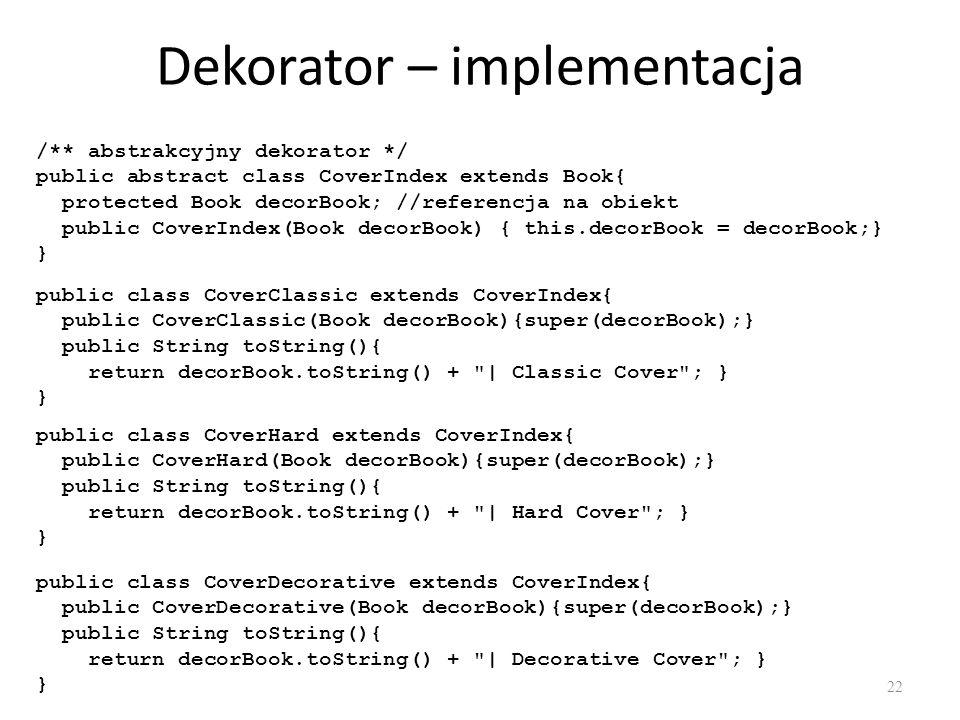 Dekorator – implementacja