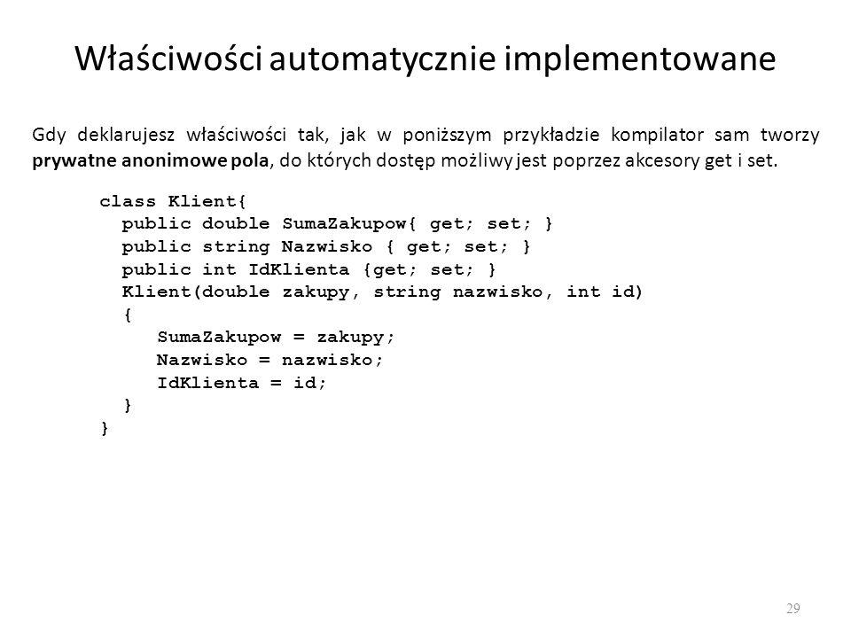 Właściwości automatycznie implementowane