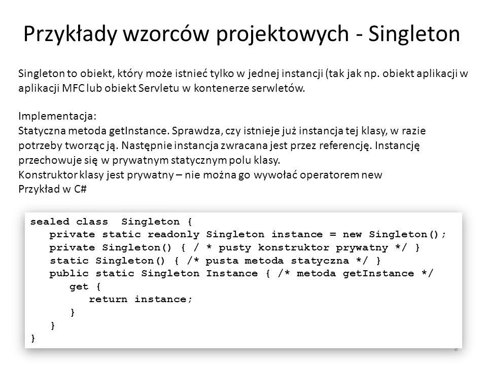 Przykłady wzorców projektowych - Singleton