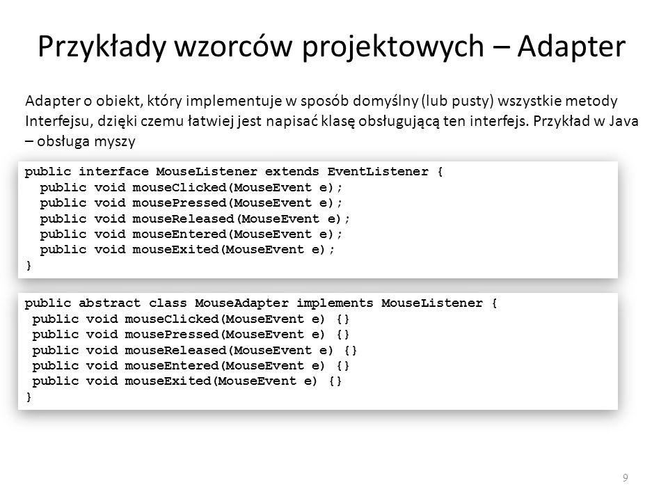 Przykłady wzorców projektowych – Adapter
