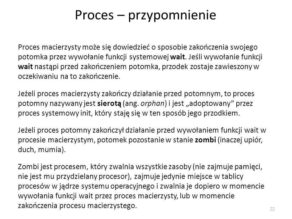 Proces – przypomnienie