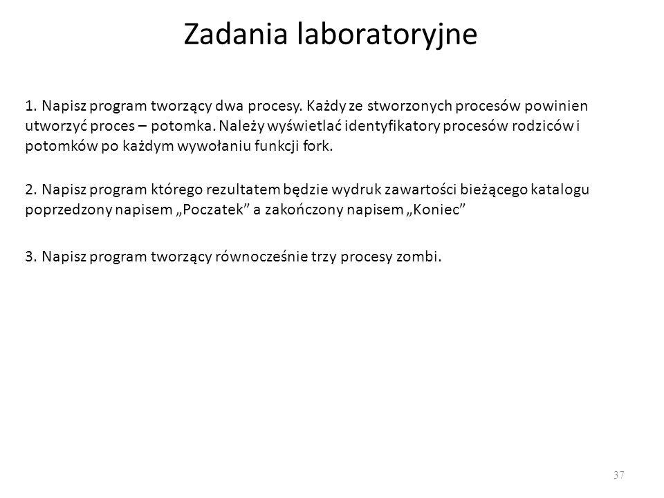 Zadania laboratoryjne
