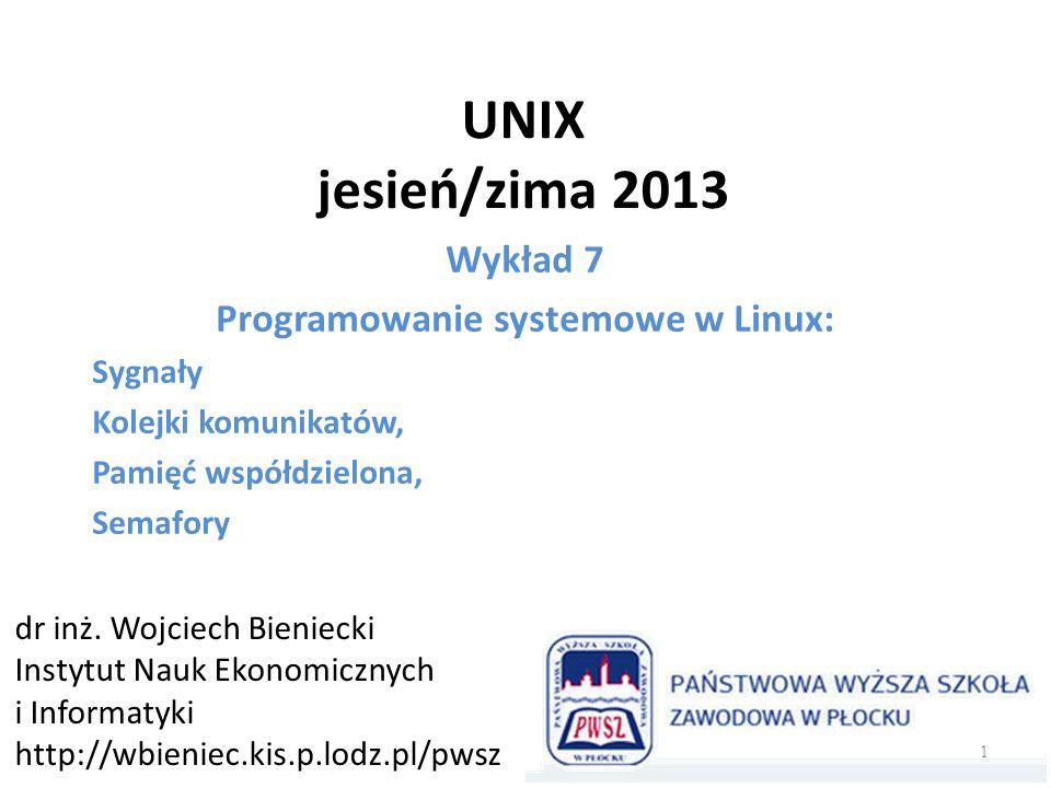 Programowanie systemowe w Linux: