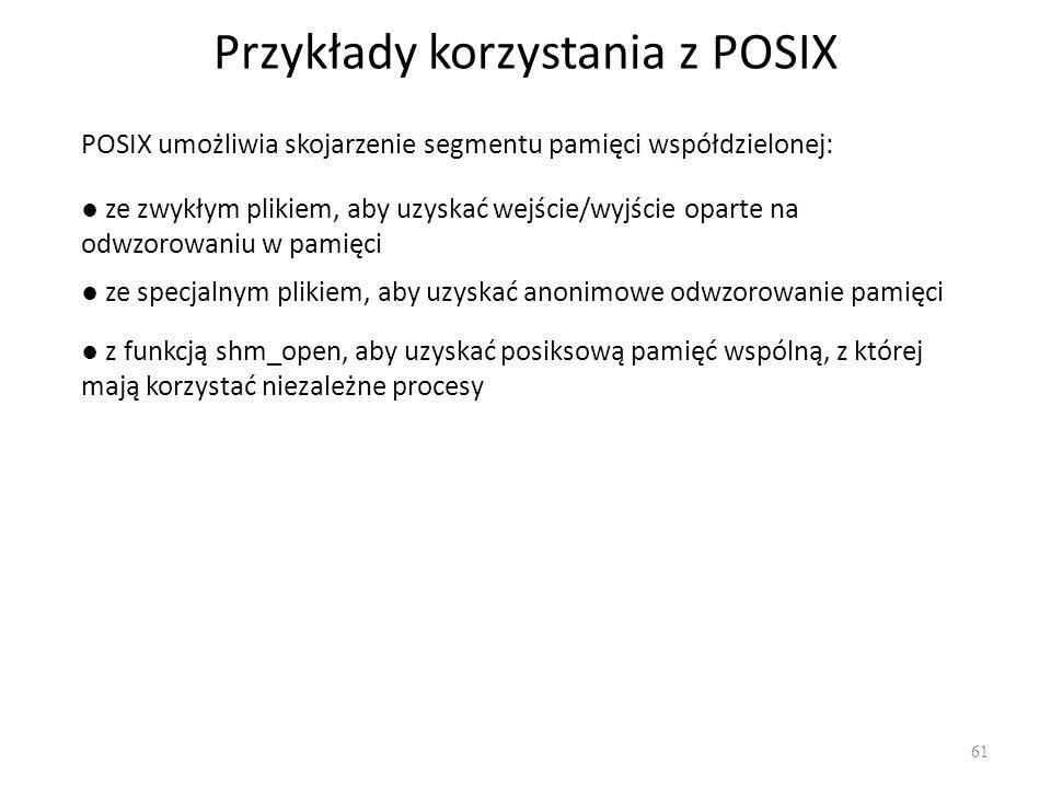 Przykłady korzystania z POSIX
