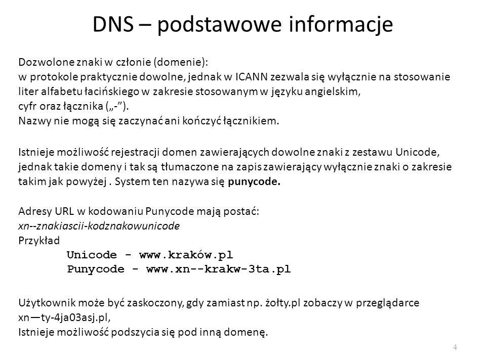 DNS – podstawowe informacje