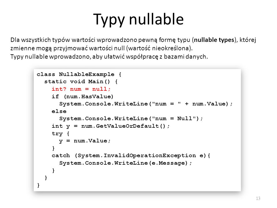 Typy nullable