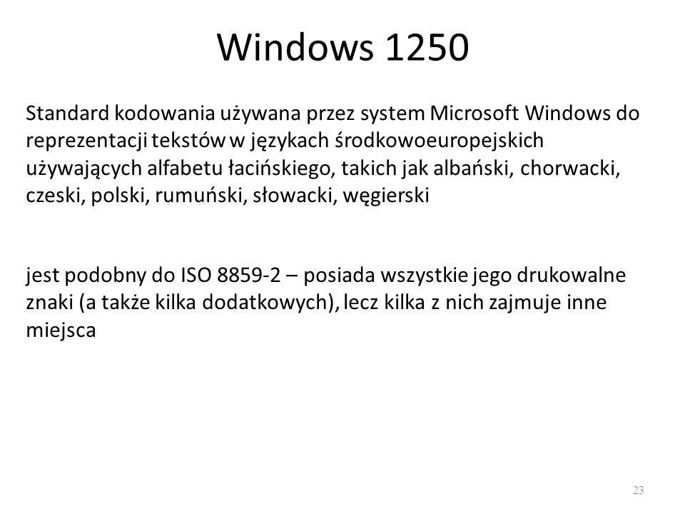 Windows 1250