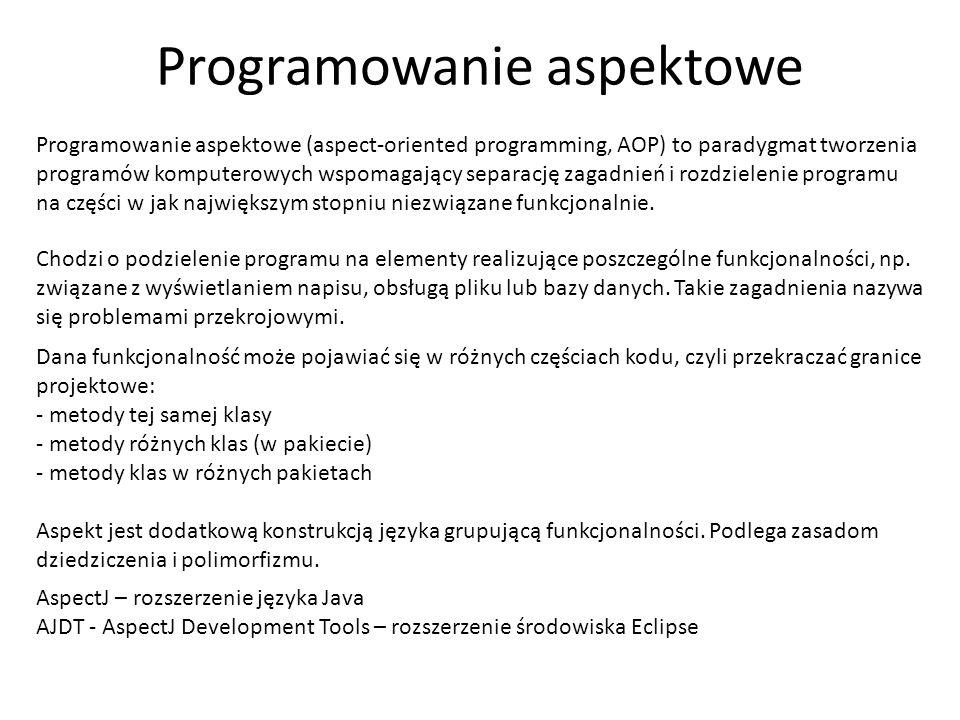 Programowanie aspektowe
