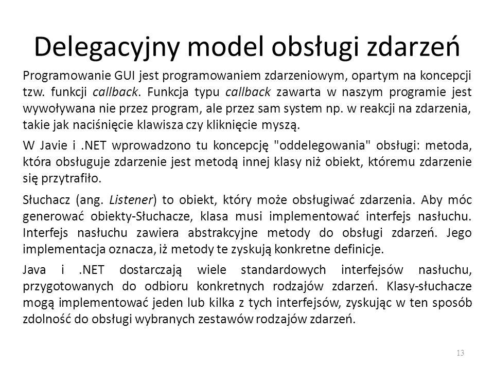 Delegacyjny model obsługi zdarzeń