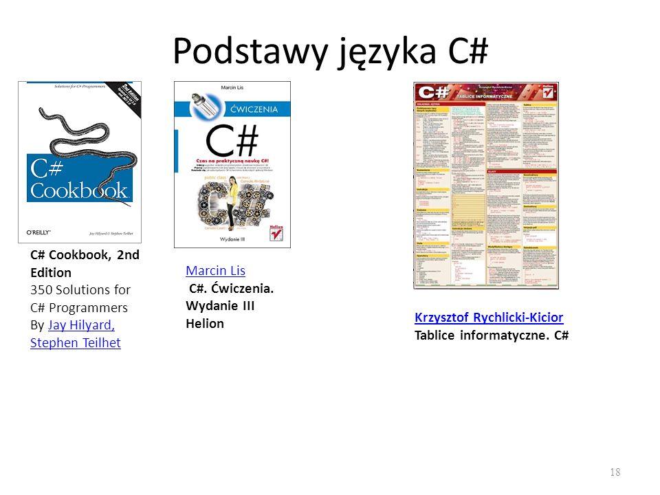 Podstawy języka C# C# Cookbook, 2nd Edition