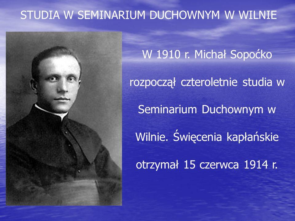 STUDIA W SEMINARIUM DUCHOWNYM W WILNIE