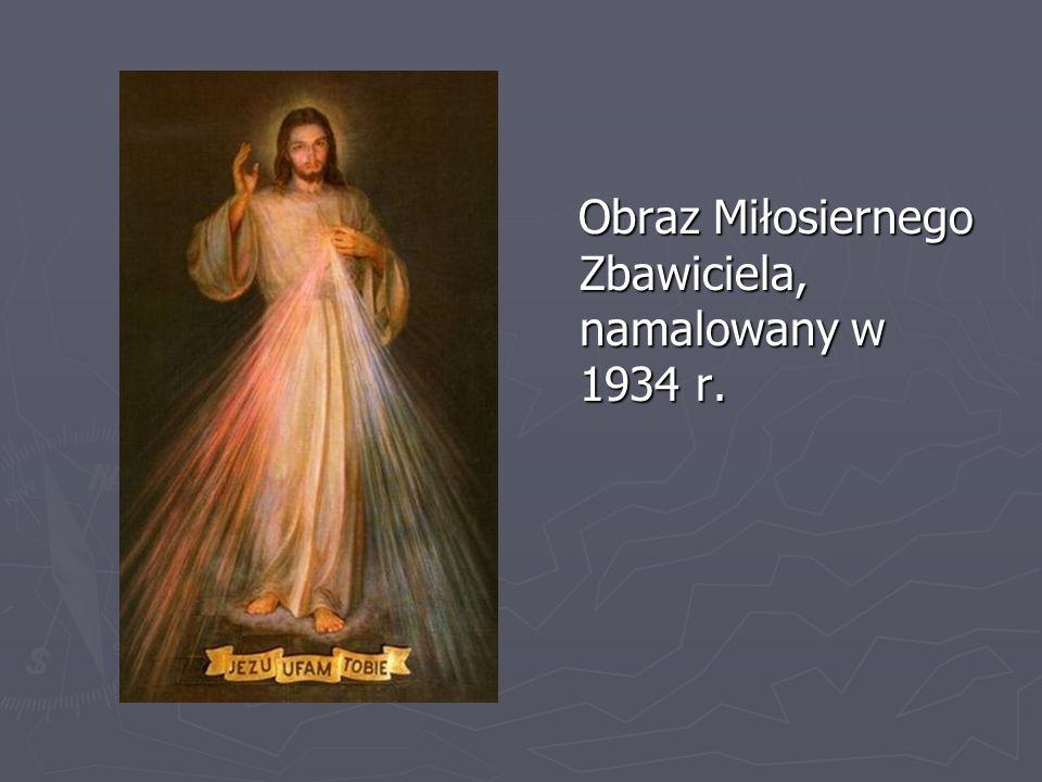 Obraz Miłosiernego Zbawiciela, namalowany w 1934 r.