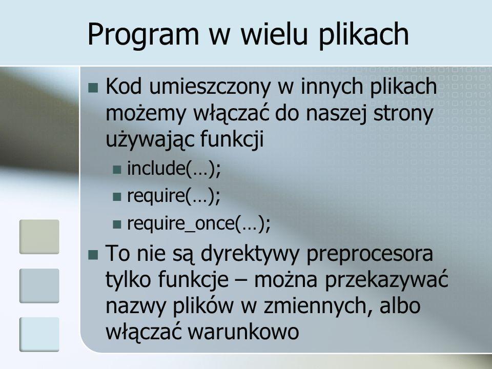 Program w wielu plikach