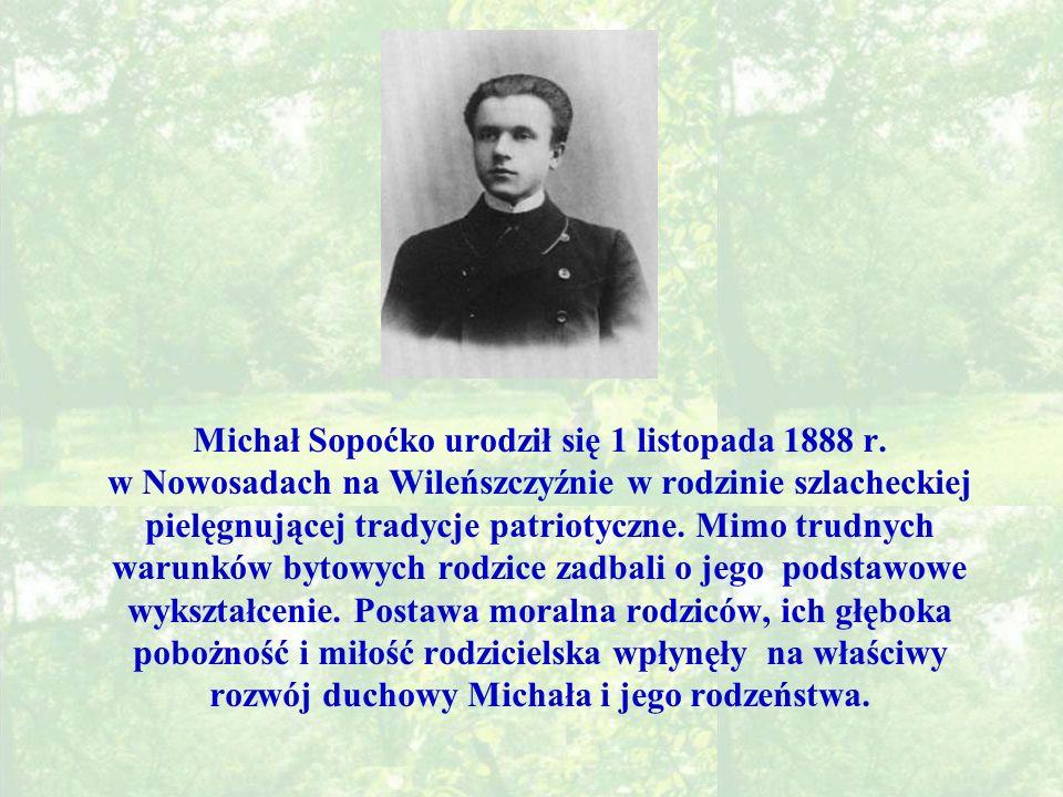 Michał Sopoćko urodził się 1 listopada 1888 r