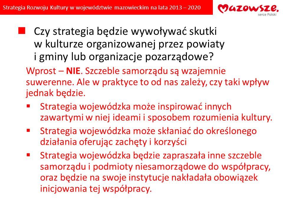 Strategia Rozwoju Kultury w województwie mazowieckim na lata 2013 – 2020