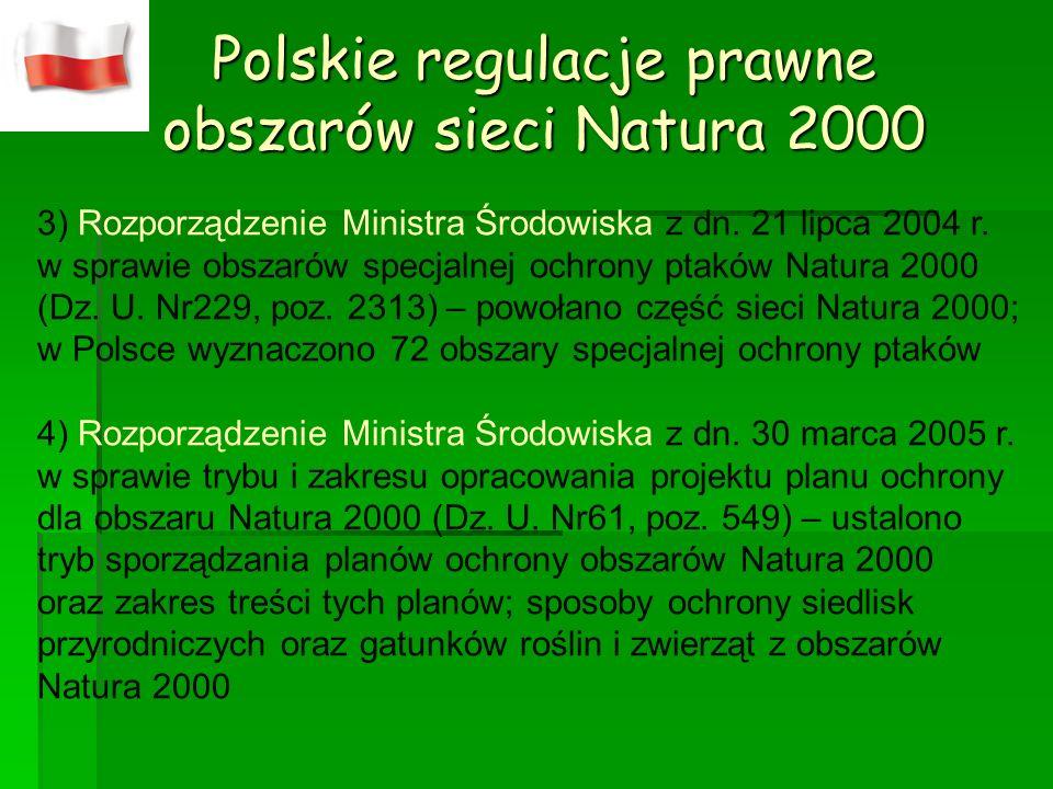 Polskie regulacje prawne obszarów sieci Natura 2000