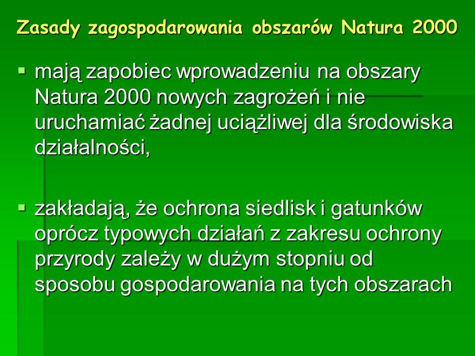 Zasady zagospodarowania obszarów Natura 2000